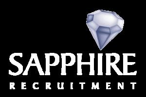 sapphire white writing logo